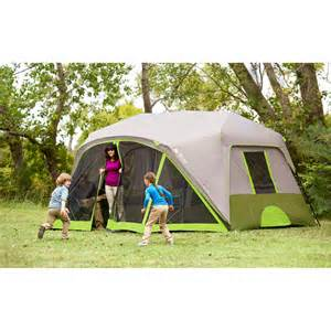 ozark trail 9 person 2 room instant cabin tent with screen