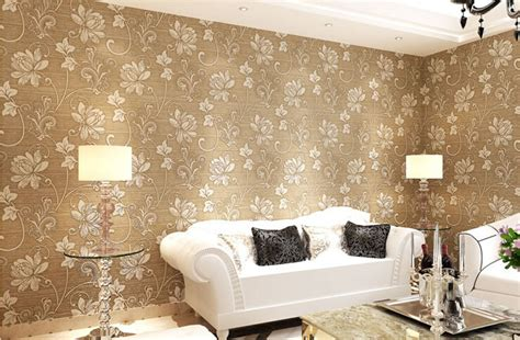 Buy Home Decor Aliexpress Buy Desktop Wallpaper Damask Glitter 3d Flower Papel De Parede Home Decor
