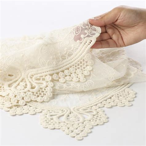 Ivory Lace Table Runner by Vintage Inspired Ivory Lace Table Runner Textiles And
