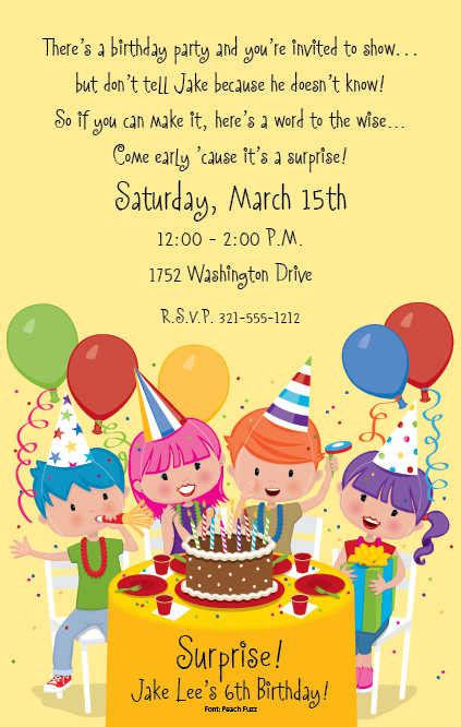 invitation wording for children s birthday birthday invitation wording ideas