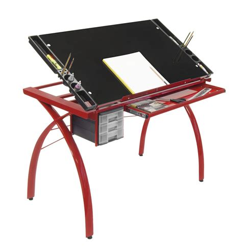 Drafting Table Tops Studio Design Futura Glass Top Drawing Drafting Table In New Ebay