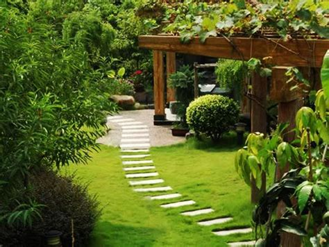 yard landscaping ideas curvy garden path designs  feng shui homes