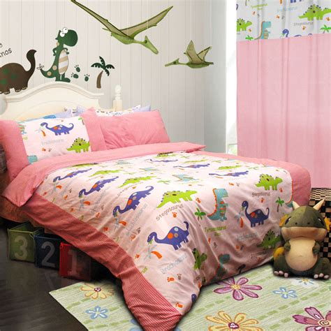dinosaur bedroom set colorful mart dinosaur homes pink dinosaur bedding set