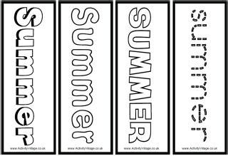 summer colouring bookmarks summer planning sheets