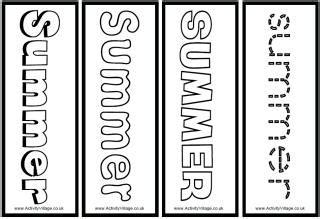 printable bookmarks activity village summer planning sheets