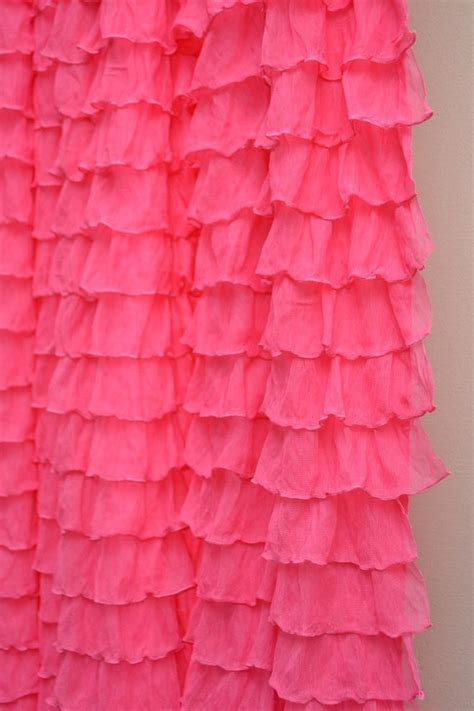 pink ruffled curtains items similar to pink ruffle shower curtain extra wide