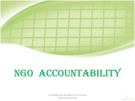 ppt templates for ngo ngo accountability authorstream