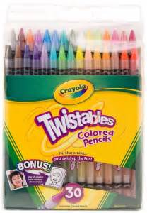 crayola twistables colored pencils crayola twistables colored pencils set 30 colors no