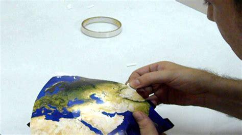 papercraft planet model taping