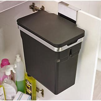 In Cupboard Bins by Simplehuman In Cupboard Bin 10l Black Lakeland