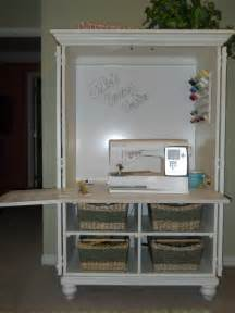 Repurposed Cabinets An Tv Cabinet Was Repurposed Into A Sewing Center It Sewing Crafting