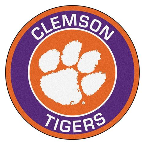 clemson rug fanmats ncaa clemson purple 2 ft 3 in x 2 ft 3 in accent rug 18603 the