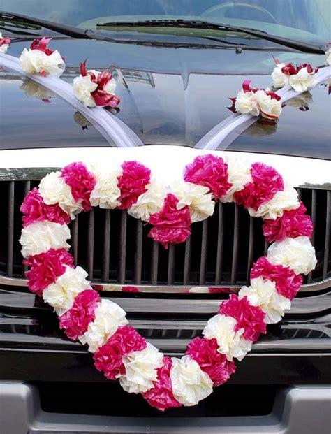 hochzeitsschmuck auto blumen dekoration hochzeitsauto blumenschmuck und mehr