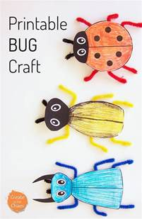 Bug Template by Printable Bug Craft Create In The Chaos