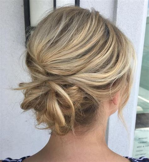 Wedding Hair Casual Updo by 60 Easy Updo Hairstyles For Medium Length Hair In 2018