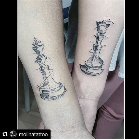tattoo couple echec 10 beautiful king queen tattoo for beautiful couples