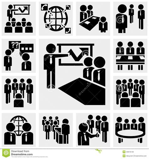 Office And Business Vector Icons Set On Gray Royalty Free Stock Images Image 33973149 Office And Business Vector Icons Set On Gray Stock Vector Illustration Of Discussion Company