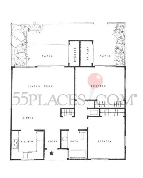 Backyard Apartment Floor Plans by Garden Apartment B Floorplan 906 Sq Ft Oceana