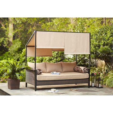Patio Daybeds by Hton Bay Chaise Lounges Villa Capra Patio Daybed Dy902 Db