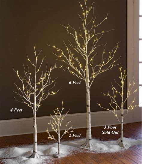 6 ft birch cluster tree lighted white birch tree 6 foot 88 warm white led s indoor outdoor buy now