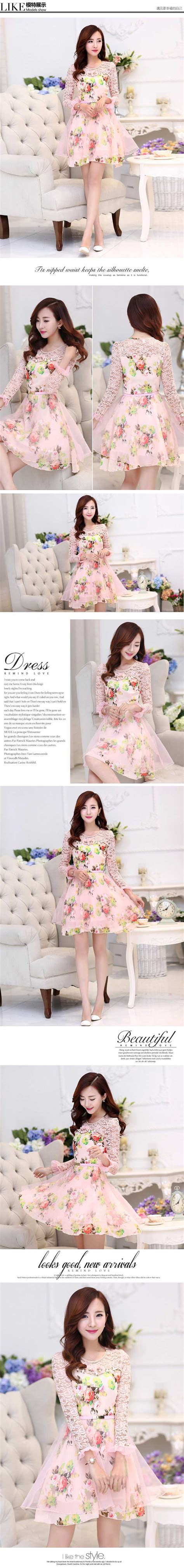 Dress Cantik Brukat dress korea cantik kombinasi brukat d2387