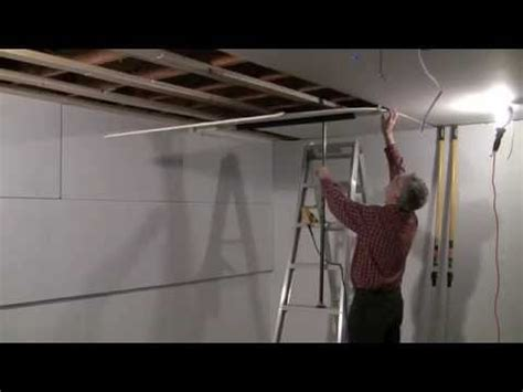 Installing A Ceiling by One Drywall Installation On Ceiling