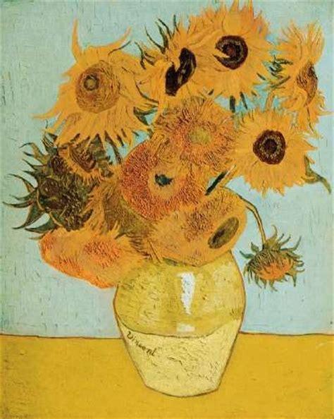 Van Gogh Flowers In A Blue Vase Still Life Vase With Twelve Sunflowers By Vincent Van