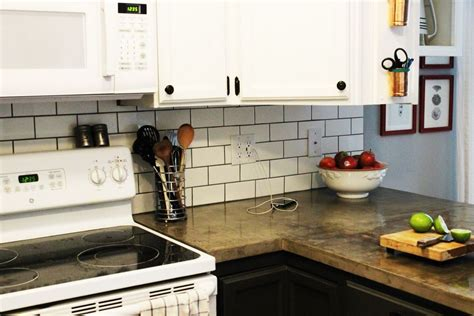 How To Apply Backsplash In Kitchen How To Install A Subway Tile Kitchen Backsplash