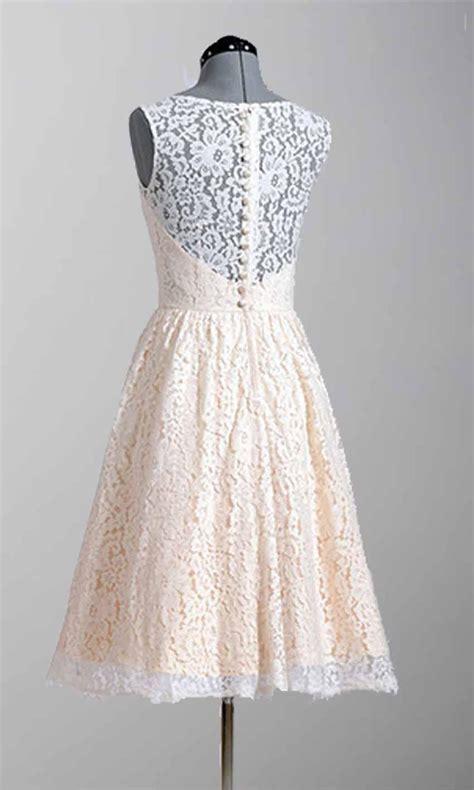 knee length modern lace vintage wedding dresses