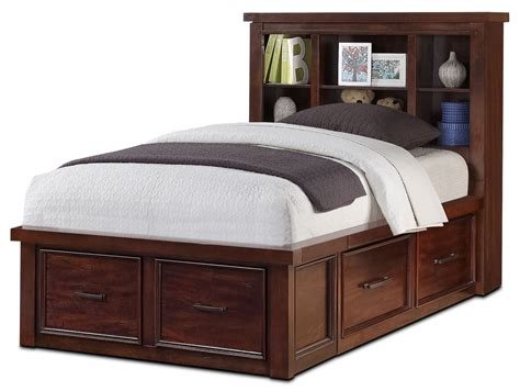 storage twin beds sonoma youth twin bookcase storage bed united furniture warehouse