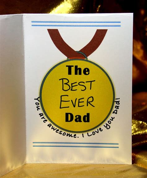 make your own fathers day card free printable s day card a medal for craft