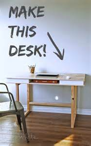 Diy Modern Desk White Modern 2x2 Desk Base For Build Your Own Study Desk Plans Diy Projects