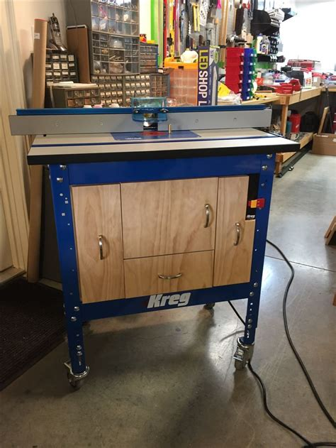 kreg router table cabinet 25 best ideas about kreg router table on