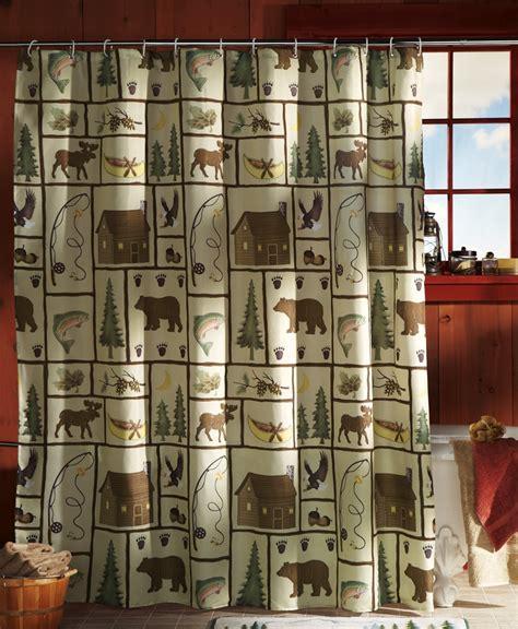 northwoods shower curtain northwoods woodland bathroom shower curtain w rings