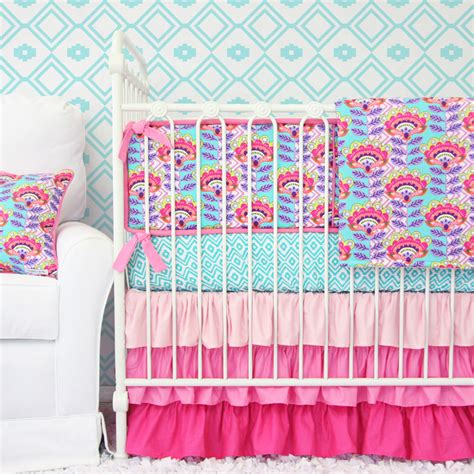 aztec crib bedding avery s aztec crib bedding set by caden lane
