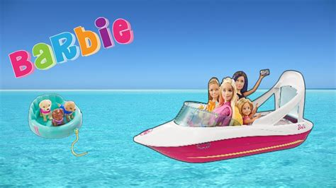 barbie dolphin magic ocean boat barbie dolphin magic ocean boat toy review and unboxing