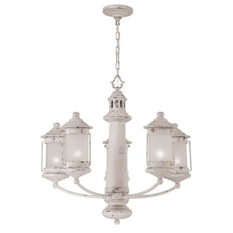 Lighthouse Chandelier Light House Chandelier With 5 Frosted Globe Lanterns