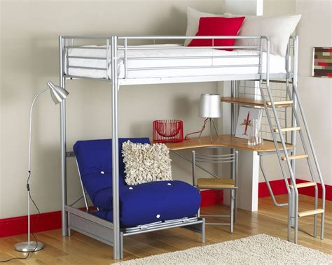 full size metal loft bed decor creative full size metal