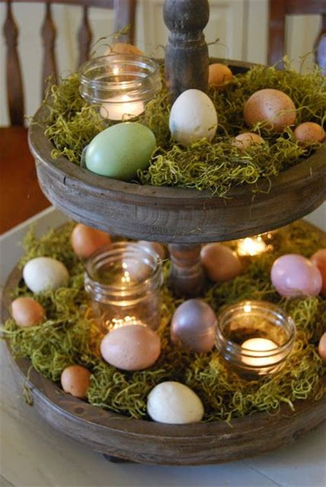 etagere ostern 20 rustic centerpieces for easter shelterness
