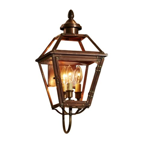 Antique Outdoor Lighting Shop Allen Roth New Vineyard 20 125 In H Antique Copper Outdoor Wall Light At Lowes
