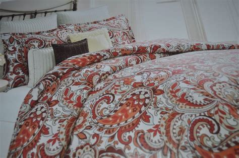orange paisley comforter bella lux 6pc king size paisley orange red gray comforter