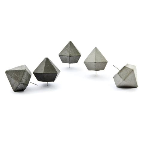 Pinset Set concrete push pin set of five by pasinga