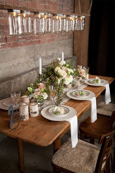 rustic tablescapes rustic wedding tablescape fab mood wedding colours