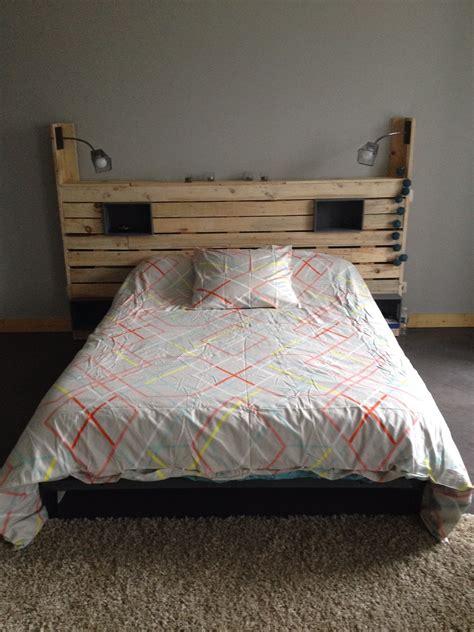tete de lit planche tete de lit en planche de coffrage galerie et dosses