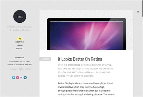 wordpress theme fixed layout 30 top rated personal blogging wordpress themes for 2013