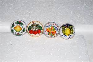 knobs kitchen cabitet knobs handpainted knobs ceramic