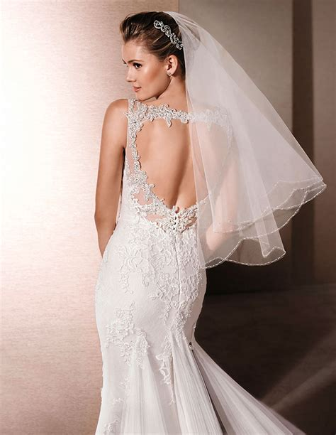 Bridal Veil by Cheap Length Veil Two Tier Scalloped Bridal