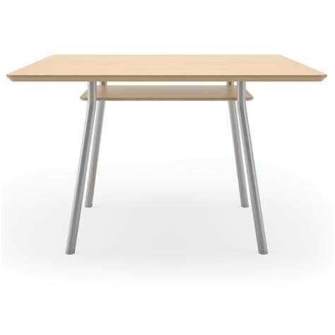 Square Conference Table Lesro S1742k4 Mystic Square Conference Table W Shelf 42 Quot Square