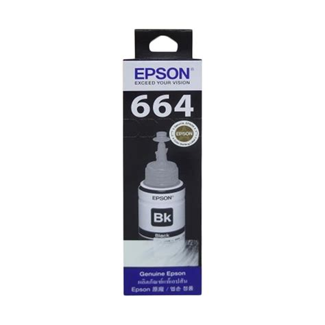 Tinta Original L Series jual epson original 664 t6641 tinta printer for epson l series black 70 ml harga