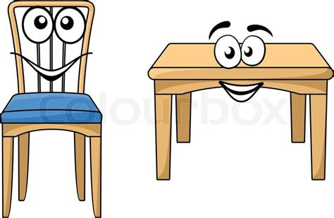Dining Room Table Plans Free by Cute Cartoon Wooden Furniture With A Happy Smiling Table